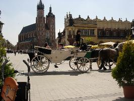 View of the old town of Krakow