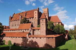 View of Malbork Castle in Poland